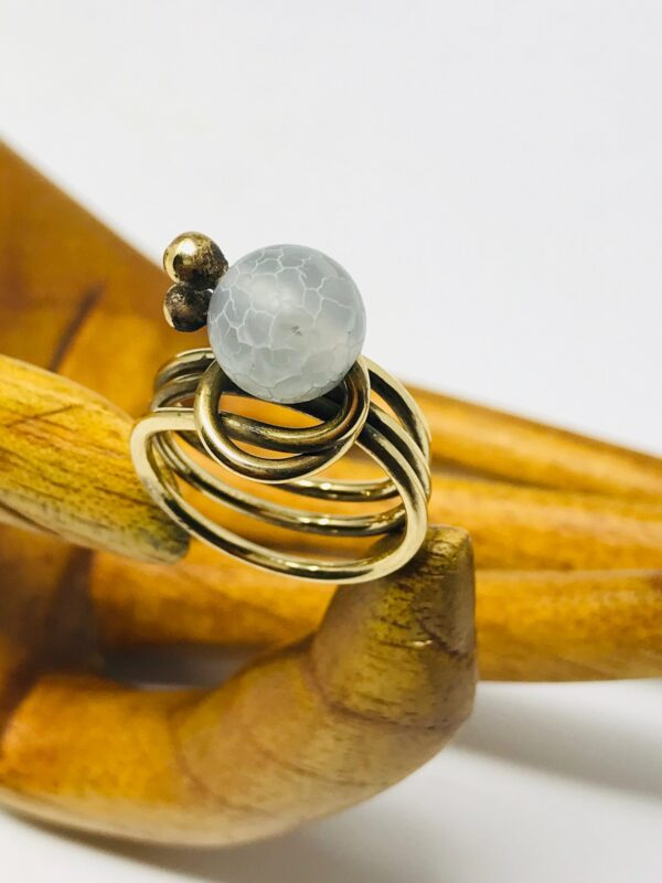 Clear Quartz CoCo Wrap Ring side website