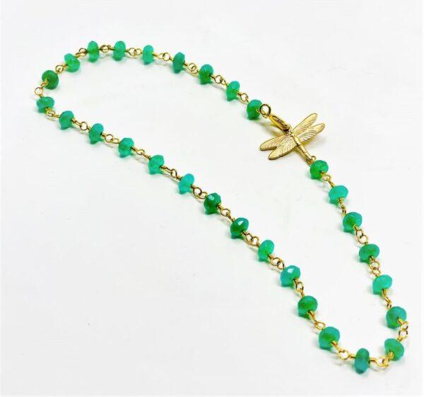 crystal anklet green1